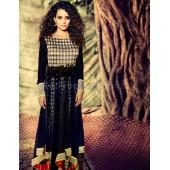 Kangana Ranaut Designer Black Georgette Anarkali Suit