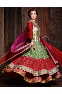 Dia mirza multi colour party wear kameez