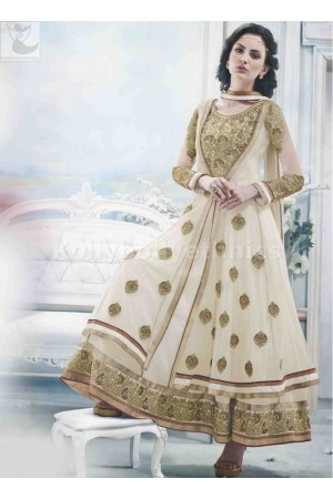 Off White Wedding Wear Designer Anarkali salwar kameez