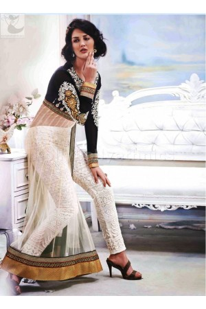 White net and santoon Wedding Wear Designer salwar kameez