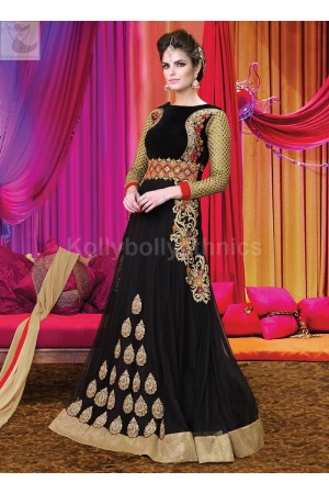 Black Wedding Wear Designer Anarkali salwar kameez