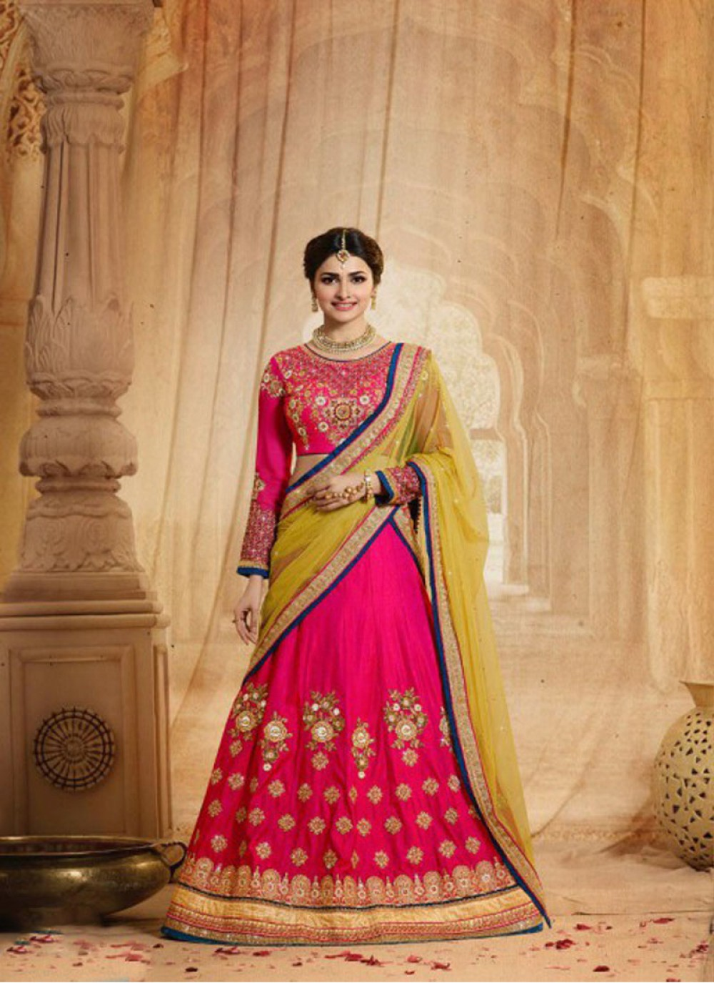 ae62812036 Designer Sarees | Prachi-desai-wedding-lehenga-pink
