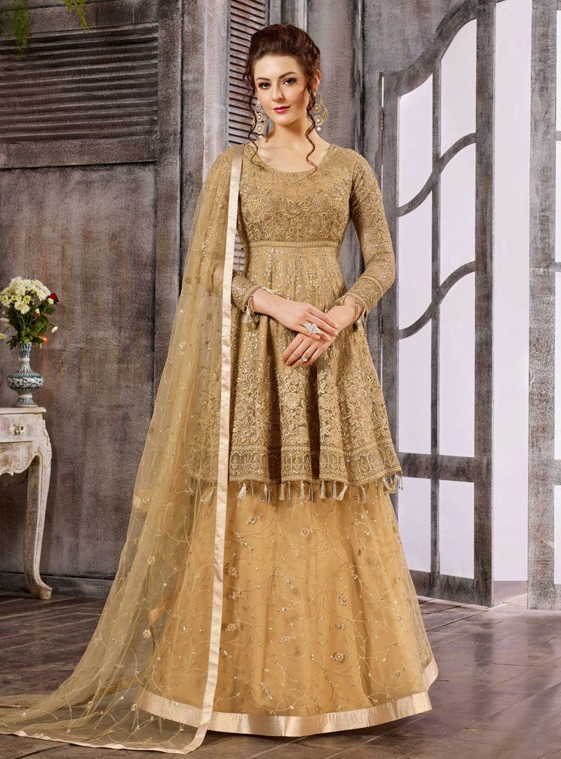 17020c21a3 Buy Beige color net wedding wear suit in UK, USA and Canada