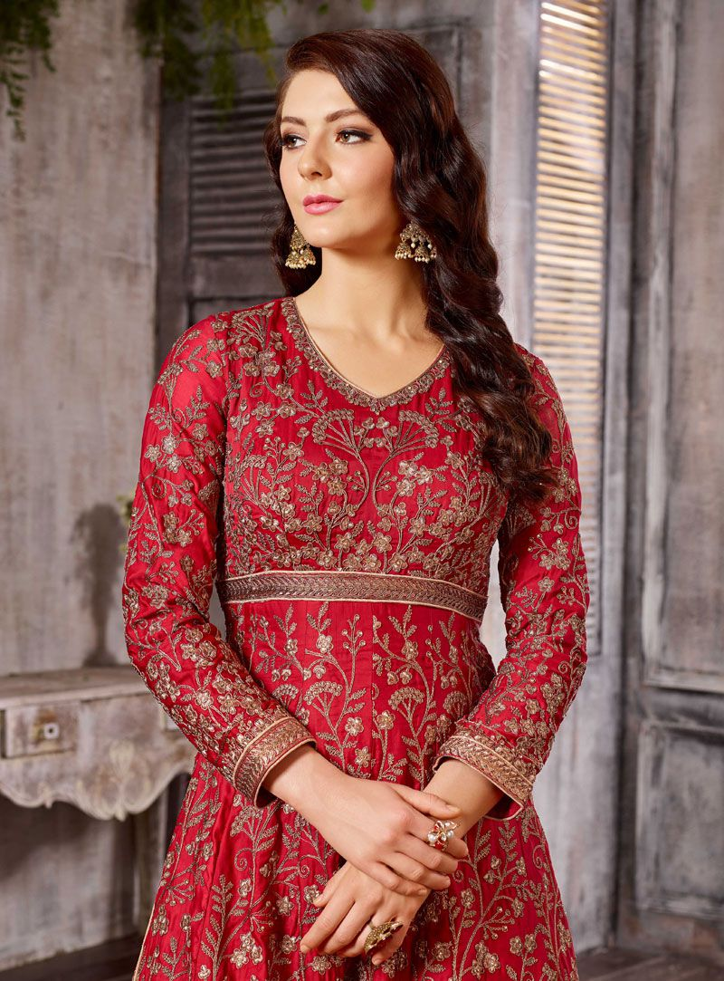 585c89d483 Buy Red color Albela Satin wedding wear Ghagra Choli in UK, USA and ...