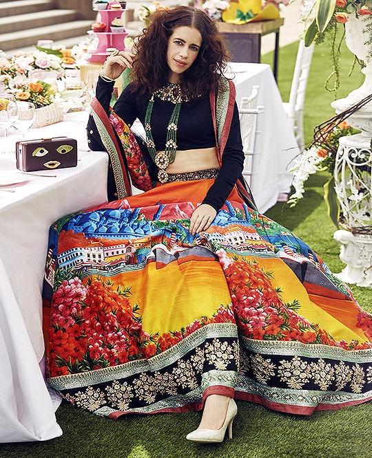 6645c2703c5b5 Sabyasachi Inspired Black and multi color art silk wedding lehenga