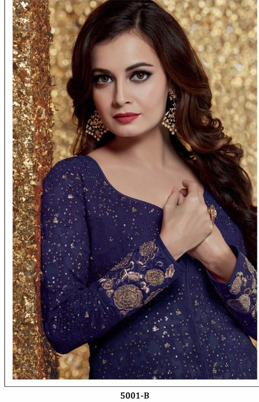6f7ae007568 Buy Dia mirza blue color georgette designer party wear suit in UK ...