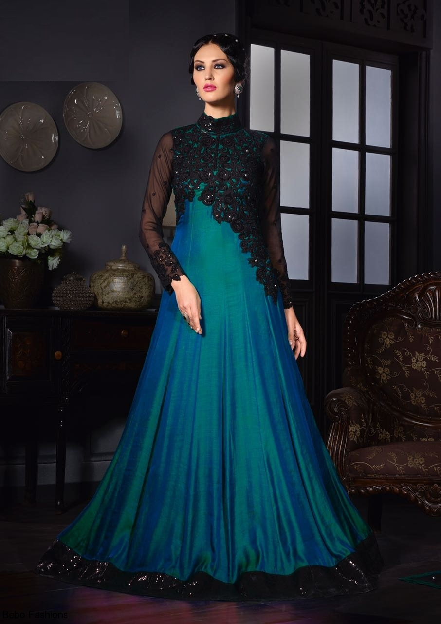 Buy Rama color silk two tone party wear salwar kameez in UK, USA and ...