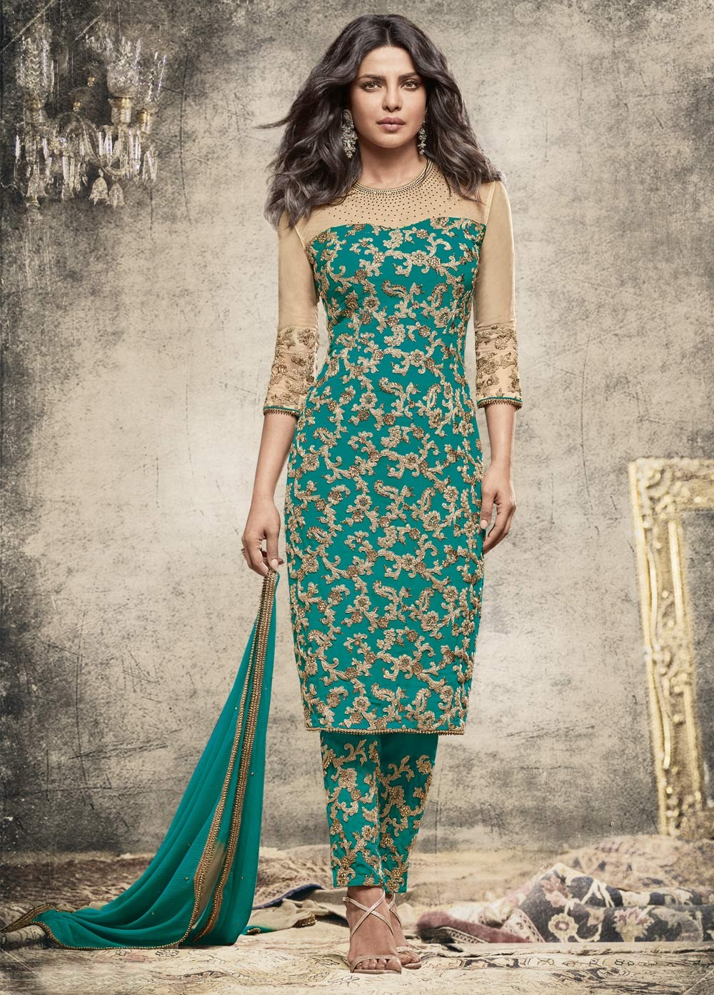 Buy Priyanka Chopra Suits from KollyBollyEthnics in USA and UK and Canada