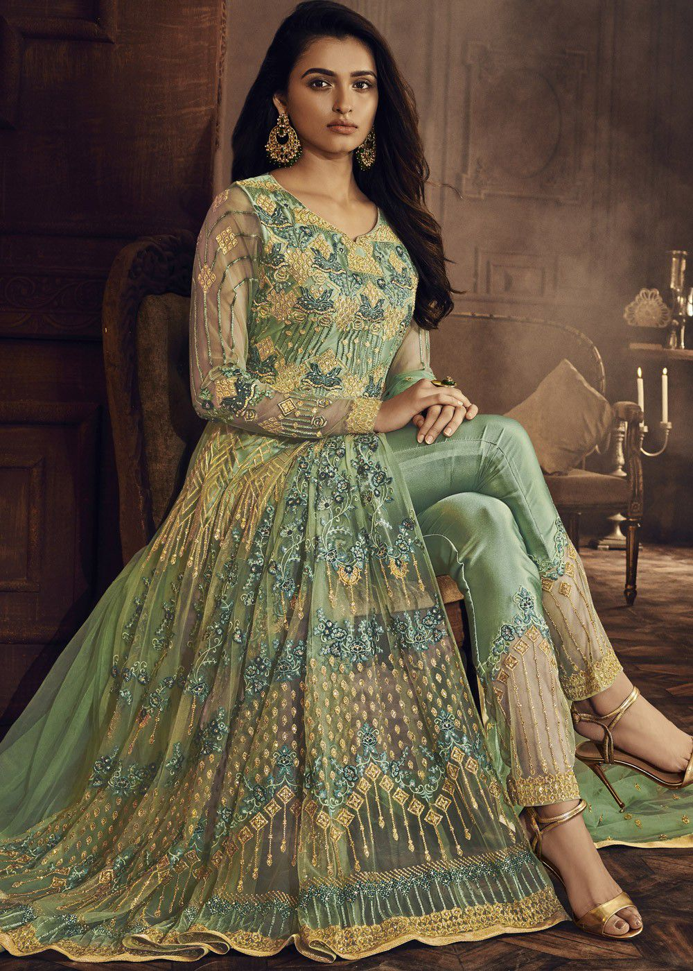 Green Indian Wedding Gowns Ficts