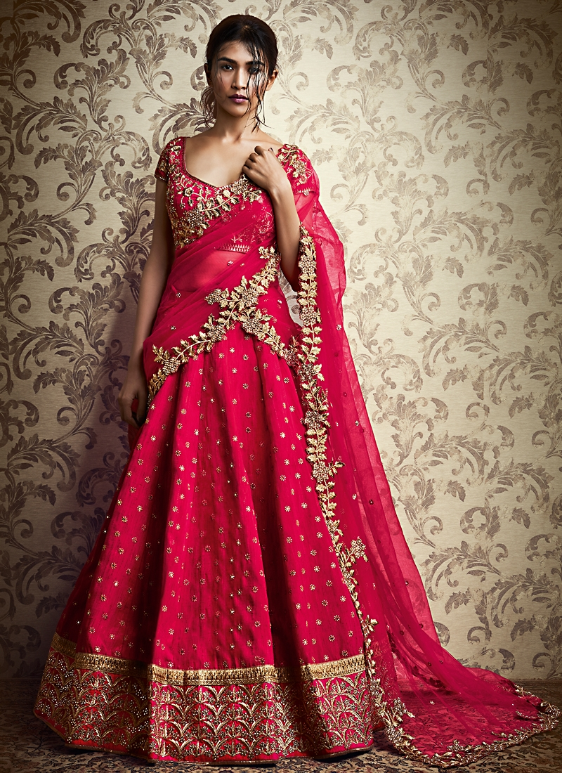 1761a5bede41 Buy Ethnic Red Cotton Designer Lehenga Choli in UK, USA and ...