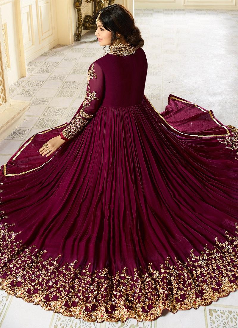 ab18c8bcd9 Buy Ayesha Takia Purple color georgette party wear salwar kameezin ...