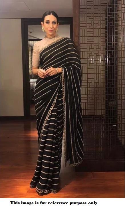 2c2316fb05c Bollywood Sabyasachi inspired Black karishma kapoor saree