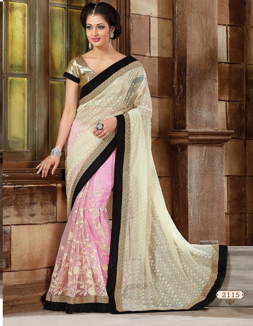 94f291b2f3 Buy Off white Net Designer Saree in USA, UK and Canada