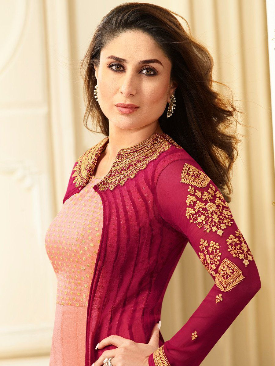Buy Kareena Kapoor Sea green and turquoise color georgette ...