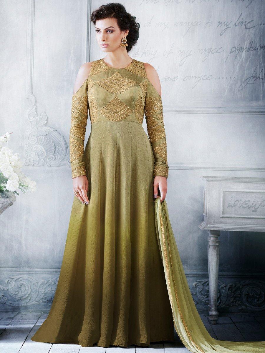 Buy Pista green color handloom silk wedding wear salwar kameez in UK ...