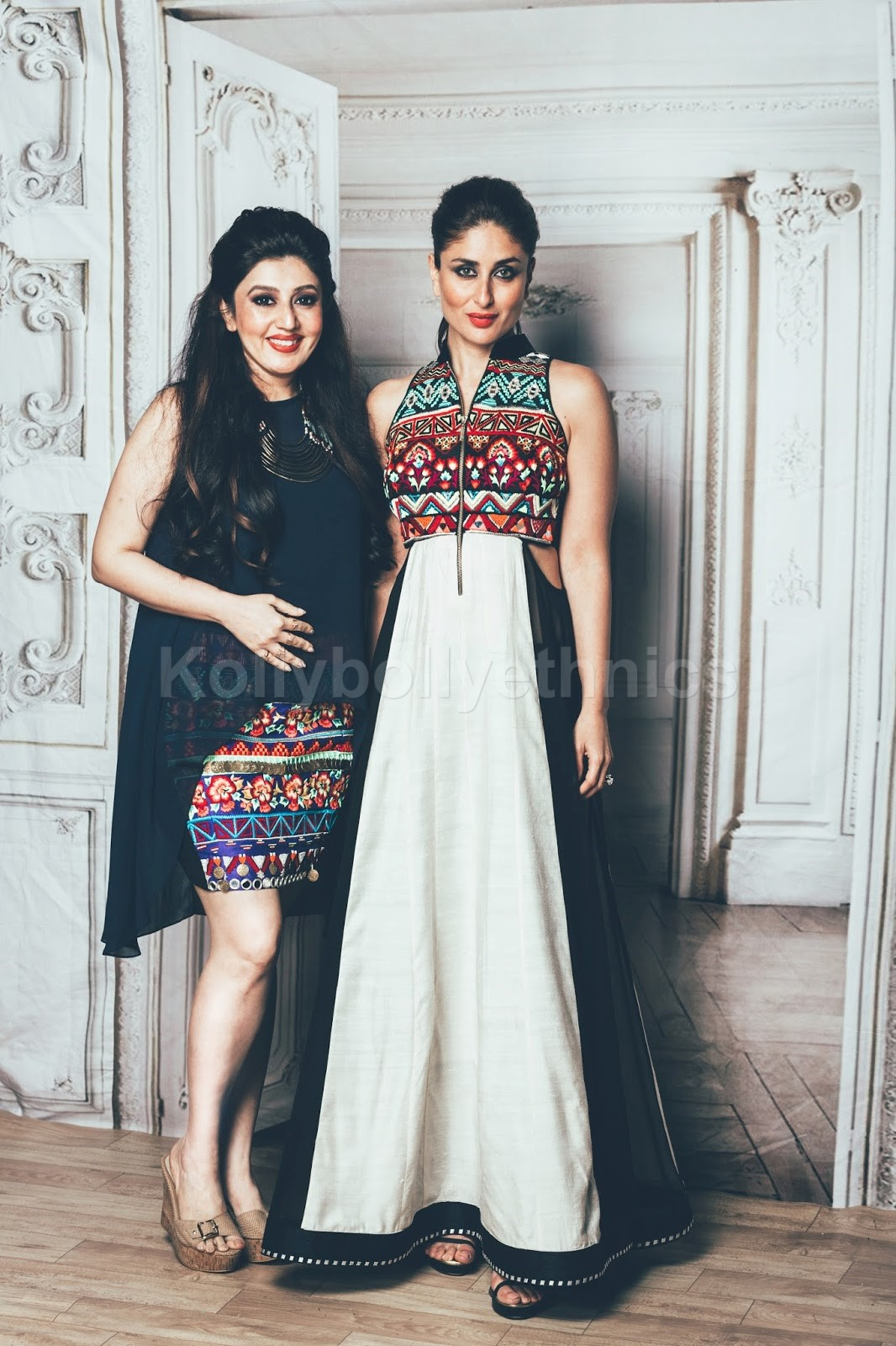 159c71c4908c3 Buy Bollywood Style Kareena kapoor white and black raw silk kurti ...