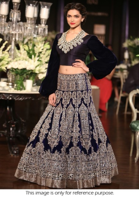 Bollywood Style Deepika Padukone heavy embroidered Moss ...