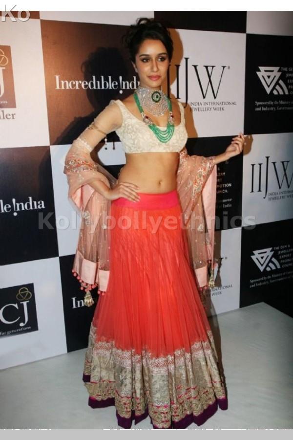 Bollywood Style shraddha kapoor net lehenga in white color