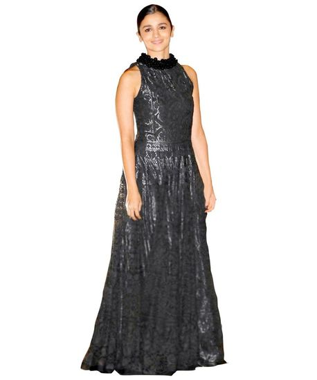 Buy Bollywood Alia bhatt Black colour Net and cotton gownin UK, USA and Canada