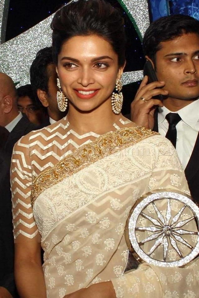 Buy Deepika Padukone Bollywood Saree from KollyBollyEthnics in USA and UK and Canada