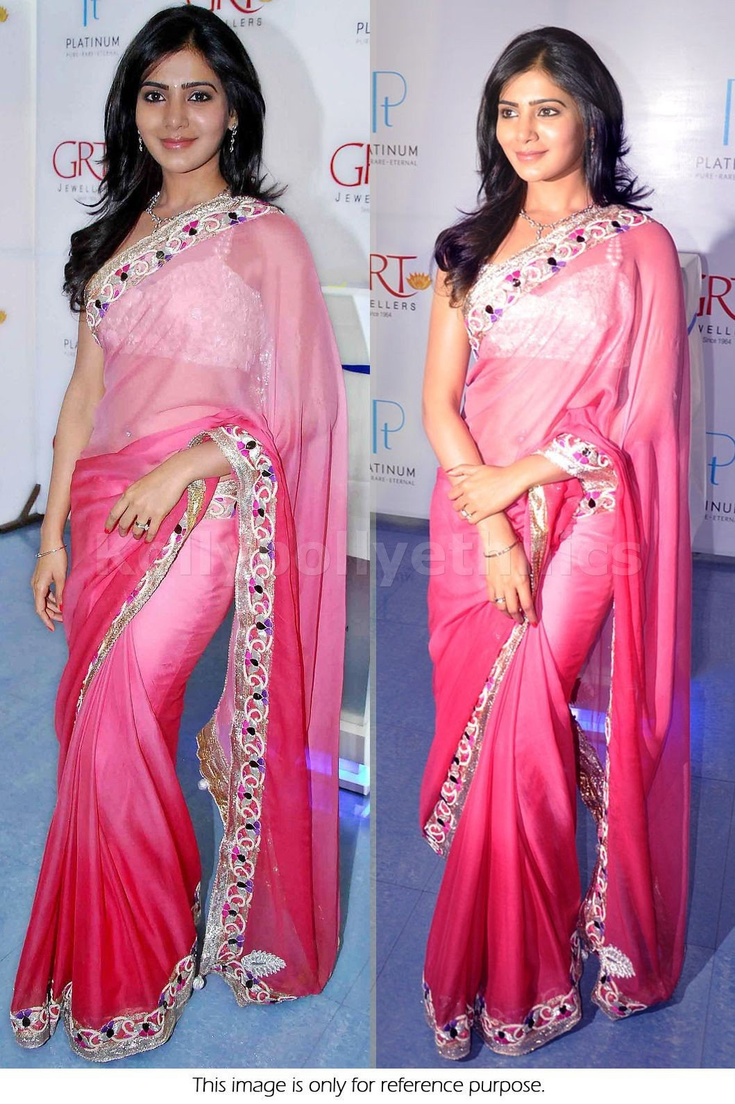 Samantha Pink Bollywood Saree