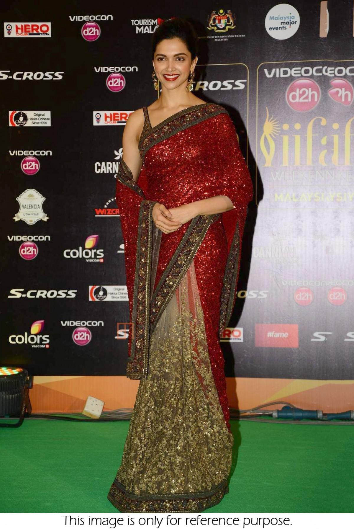 Bollywood Style Deepika Padukone Georgette and net saree ...