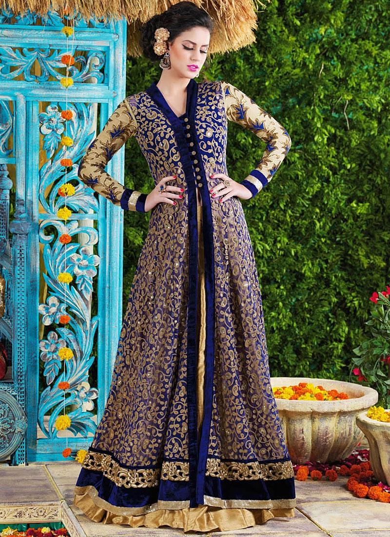 c172d8cee2cf Stunning Blue Net Party Wear Gown