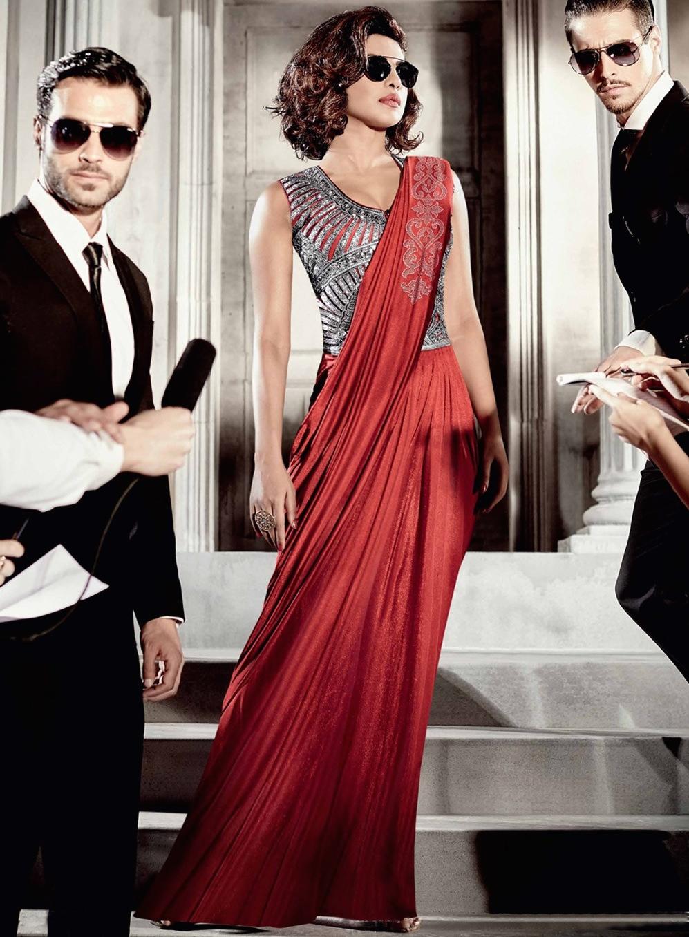 1e586f1d0fcc Priyanka chopra red saree type wedding gown