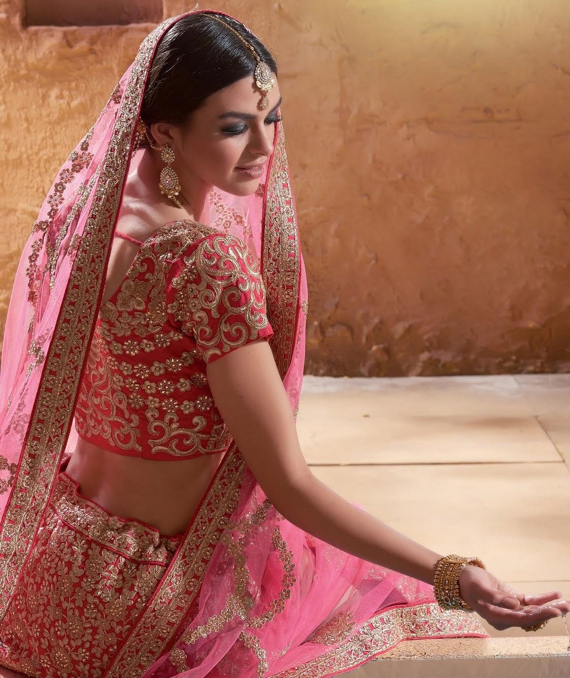 739cc39a2c Buy Light pink color raw silk bridal lehenga choli in UK, USA and Canada