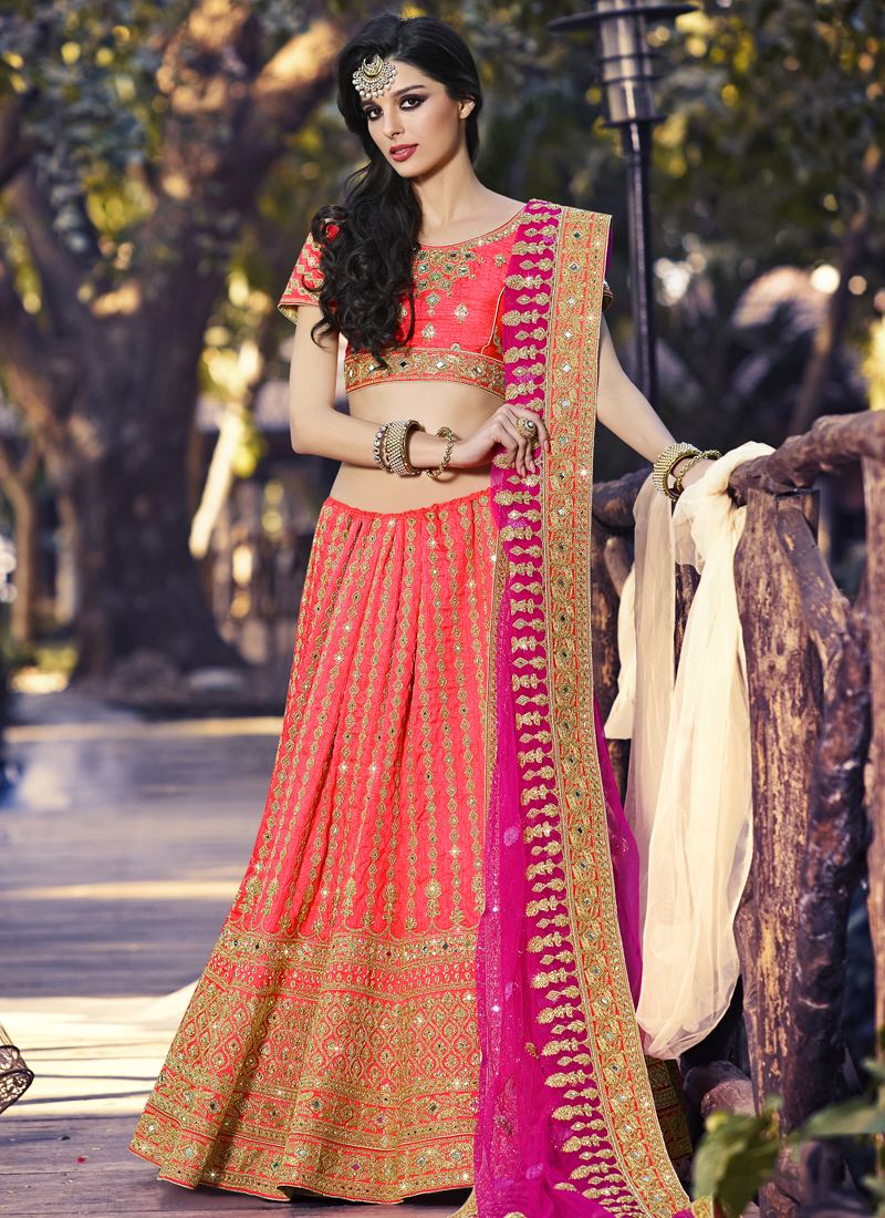 005dff601b Buy Prime Pink Net Designer A Line Lehenga Choli in UK, USA and ...