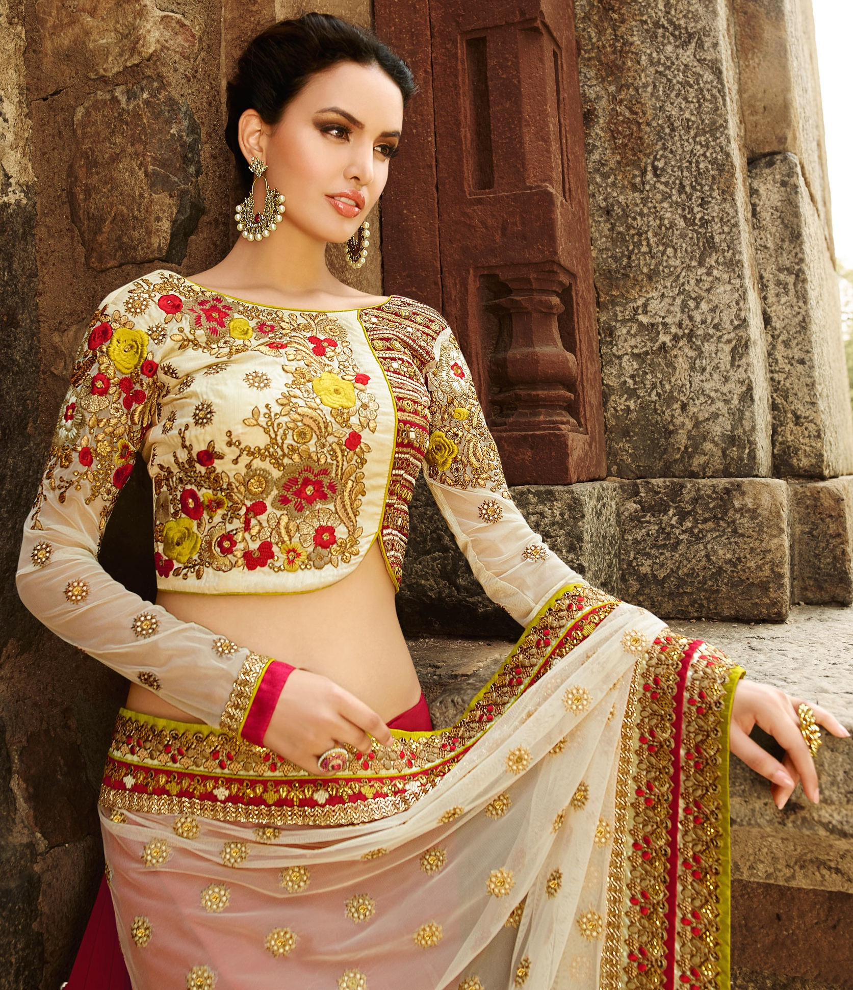 Wedding White Sarees Online: Designer Saris Online Shopping In USA UK Canada