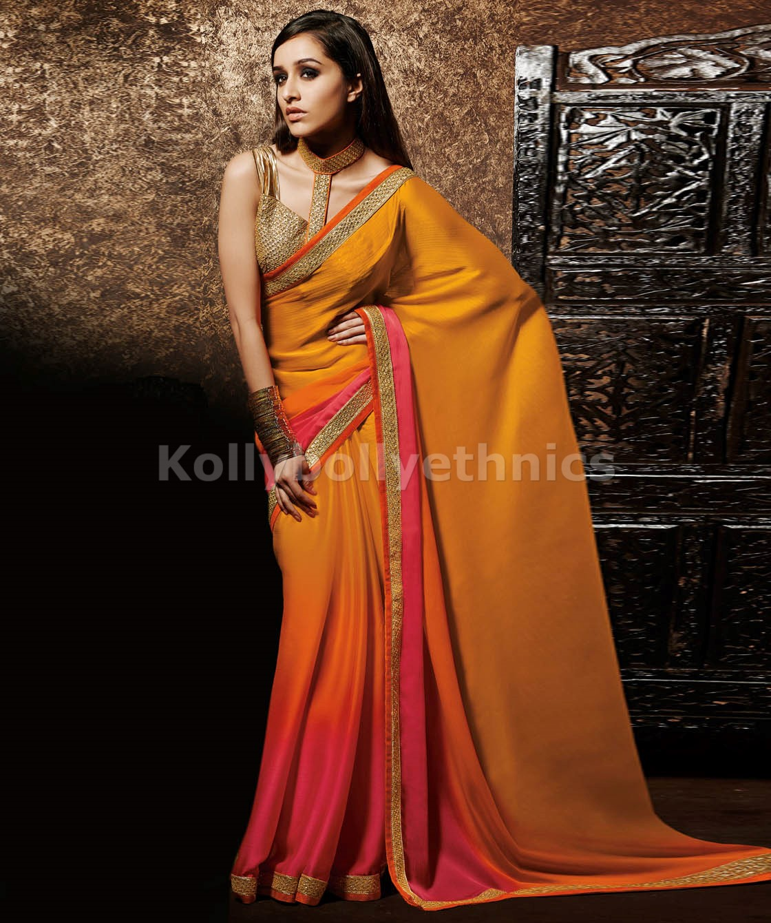 dc573f0996 Designer Saris online shopping in USA UK Canada|Buy shaded pink ...