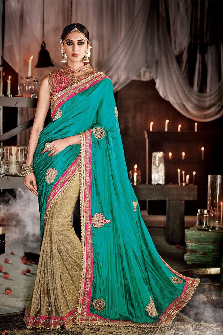 6a475bb7d7 Ravishing Fancy Fabric Patch Border Work Designer Saree