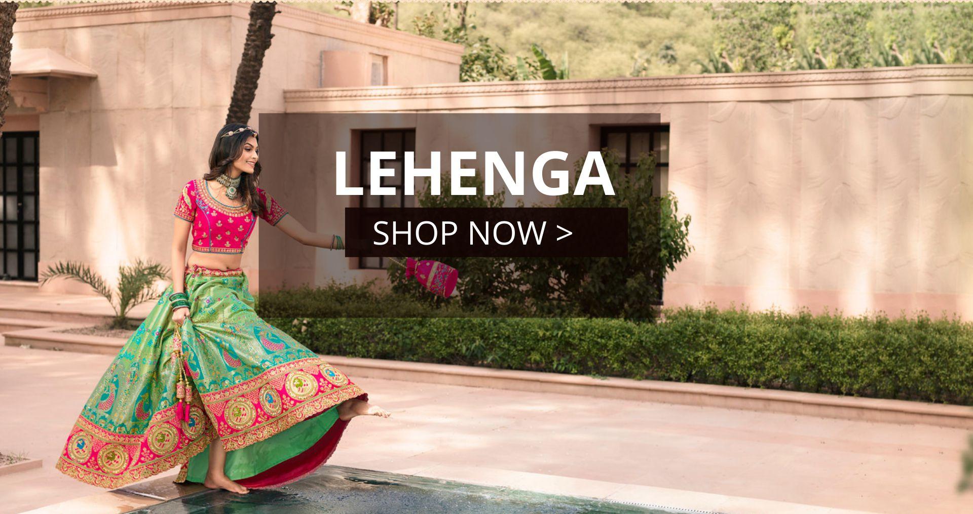 KollyBollyEthnics Diwali Indian Wedding Lehenga