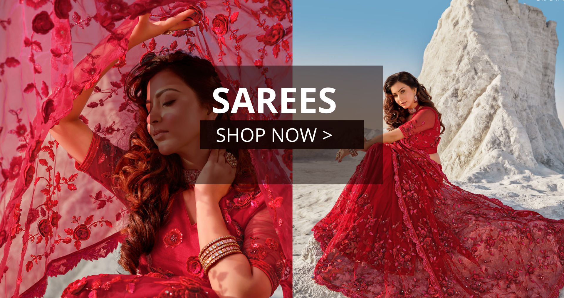 KollyBollyEthnics Diwali Indian Wedding Saree