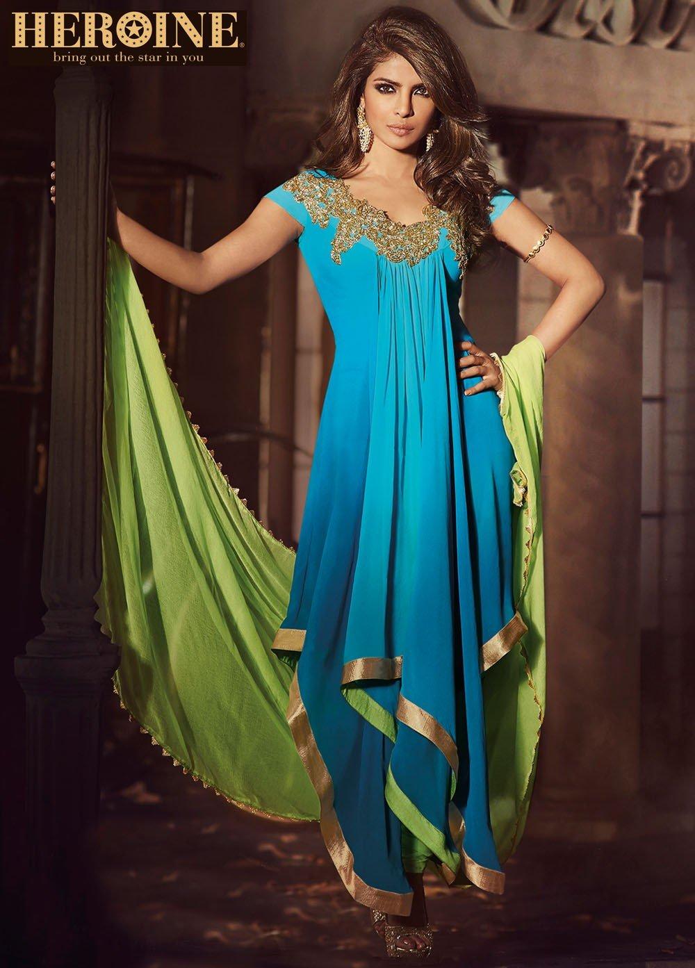 Priyanka chopra blue anarkali