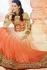 Celina Jaitley orange and beige floor length wedding outfit