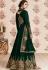 dark green georgette embroidered long anarkali suit 8185