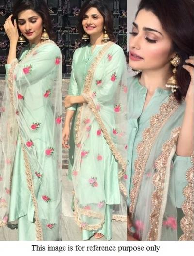 Bollywood Prachi Desai pista green  Kurta set