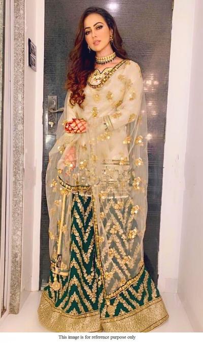 Bollywood SanaKhan Inspired off white sharara set