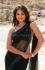 Anushka shetty black net saree