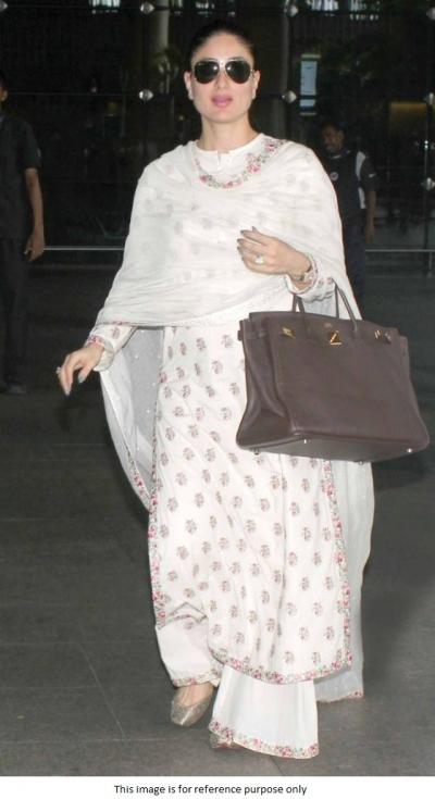 Bollywood Kareena Kapoor inspired white kurta palazzo