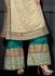 Cream and green colour Dia mirza designer suit