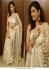 Bollywood Kajal Aggrawal White net saree