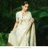 Bollywood Sonam Kapoor Inpired Ivory gold uppada silk saree