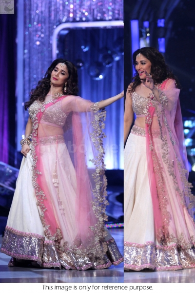 Madhuri Dixit sizzling pink and white Jhalak Dhikla jaa lehenga