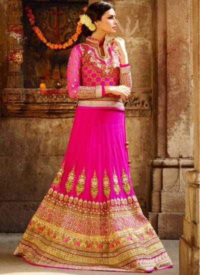 Pink Designer Bridal lehenga choli