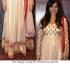 Neha Sharma Cream Colour Anarkali