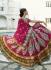 Magenta colour Bridal Lehenga choli