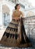Black and gold Bridal Lehenga choli
